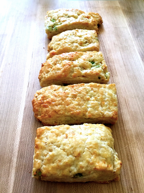 Chipotle Cheddar and Scallion Biscuits