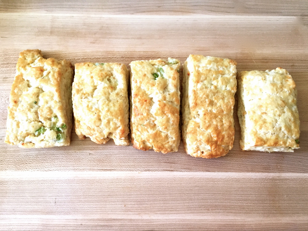 Chipotle Cheddar Scallion Biscuits