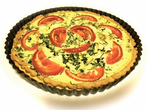 Spinach, Tomato & Feta Quiche