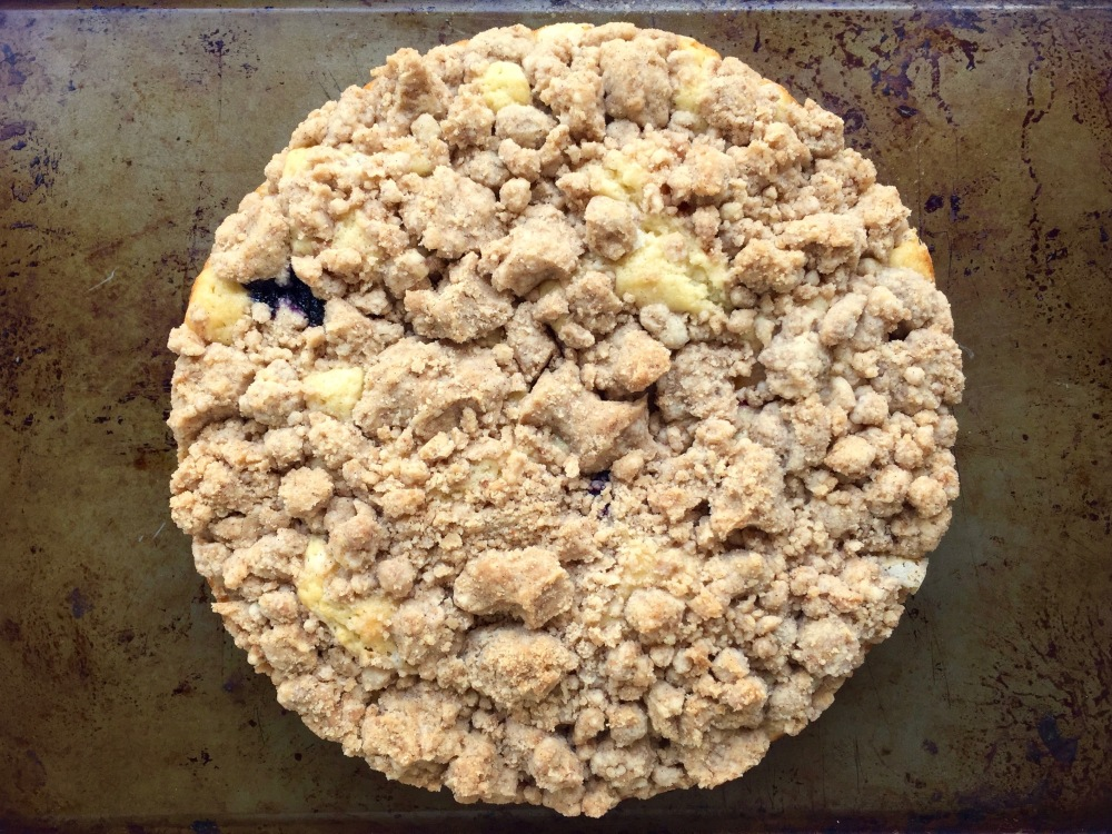 Blueberry Peach Crumb Cake